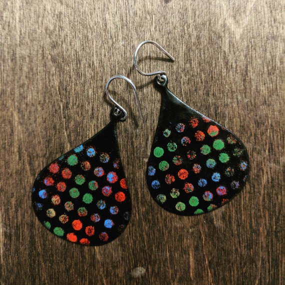 Large dot earrings