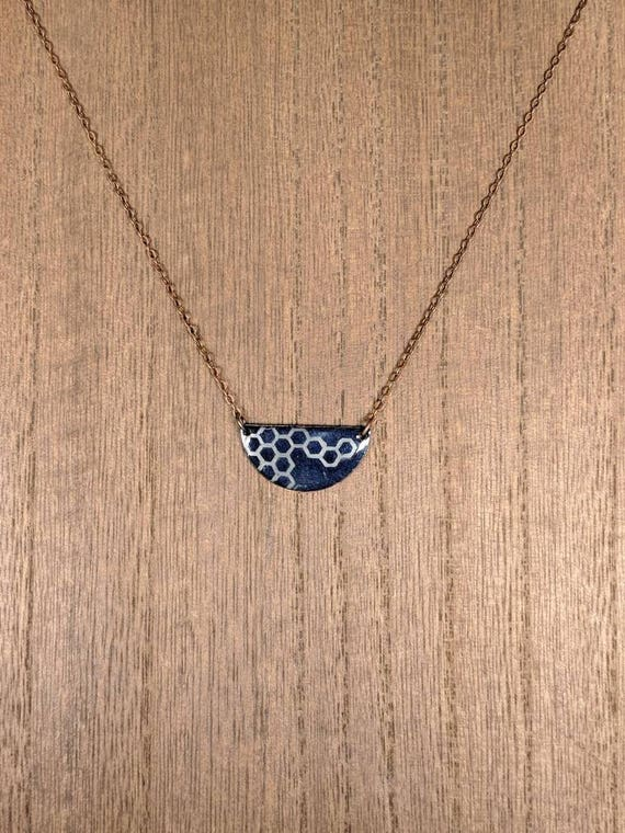 Hexagon (copper on enamel)