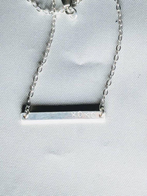 xoxo bar necklace