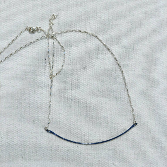 Sterling and enamel curve necklace