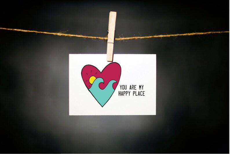 fun valentine // valentine // surf // i love you // love card image 0