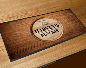 Personalised with your name Whiskey Gold label Bar runner Pubs /& Clubs