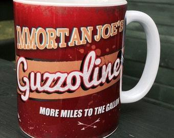 Mad Max Fury Road Immortan Joe's Guzzoline sign ceramic mugs coffee cup