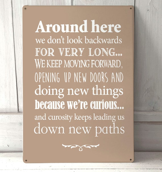 Disney Quote Plaques: Around Here Disney Inspired Quote A4 Metal Sign Plaque