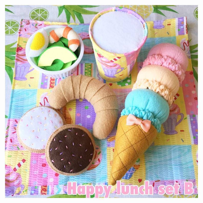 Etsy felt food play food Pretend food  \u201c Happy lunch set B \u201c
