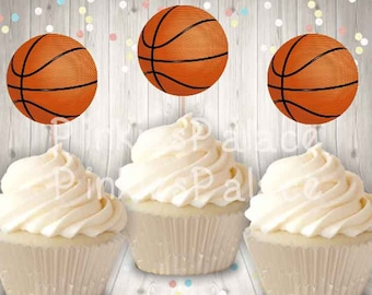 Sport Party Candles Box of 12 Sets of 4 NEW Birthday Candles Basketballs