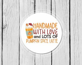 Fall Business Stickers Autumn Handmade Stickers