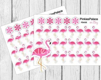 Pink Flamingo Bird Planner Stickers and Planner Die Cut