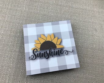 Fall Tray Sign, Sunflower Sunshine, Tiered Tray Fall Sign