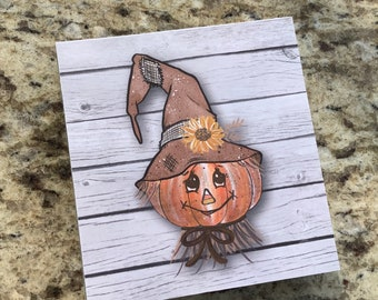 Tiered Tray Mini Sign | Scarecrow Sign