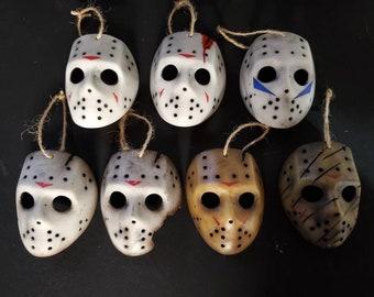 Jason Hockey Mask Christmas Ornaments