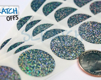 """Scratch Off Labels 1/"""" x 1/"""" Silver Square Stickers 50"""