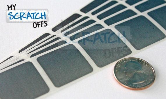 "1/"" silver scratch off labels"