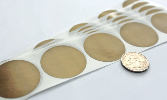 "Scratch Off Labels 1.50/"" Round Gold Stickers 50"