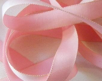 Vintage 1930's-40's Petersham Grosgrain Ribbon -Milliners Stock- 5/8 inch Pink