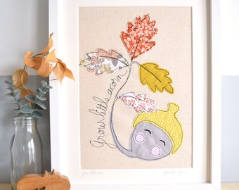 Woodland Nursery Embroidered Picture - 14x11 mount
