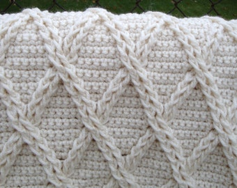 Crochet Blanket, Crochet Afghan, Creme Afghan, Hand Crochet Afghan, Crochet Items, Afghan Blanket, Crochet Throw, Fireplace Afghan