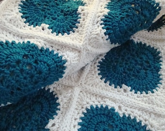 Crochet Granny Squares Afghan,Crochet Blanket, Home Decor Bedspread, Lapghan, Hand Crochet Items, Couch Cover, Handmade Afghan