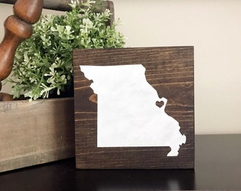 Personalized STATE and CITY with Heart - Wood Sign, Farmhouse, Rustic, Wall Decor, Home