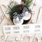 Rae Dunn Inspired Reindeer Ornament Vinyl Decals | Farmhouse, Christmas, Rudolph, Craft, DIY, Home Decor