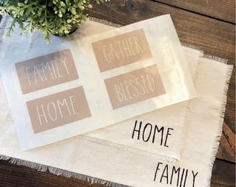 Placemat Stencils   Rae Dunn Inspires   Craft, Farmhouse, Dining Room, Place Setting