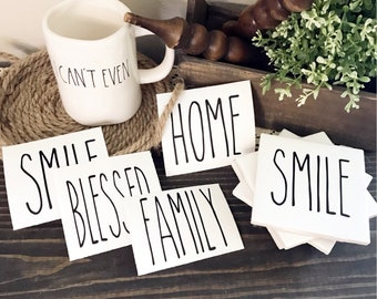 Rae Dunn Inspires Decals   Add to coasters, canisters, mugs, dishes, wood signs, and more!!