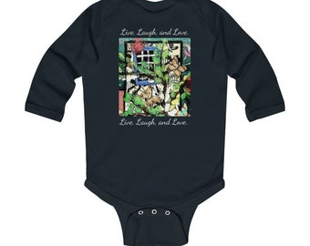 Live Laugh Love Lovely Adorable Unisex Baby Onesie\u00ae The Perfect Baby Shower Gift