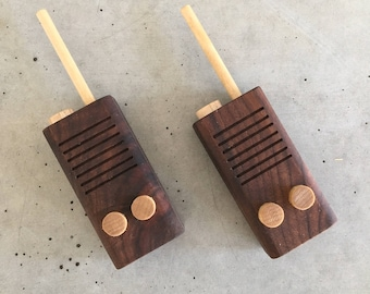 Handmade Toy Wood Walkie Talkies