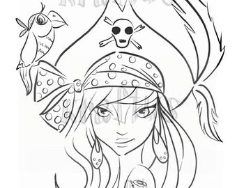 Pirata. Digital stamp