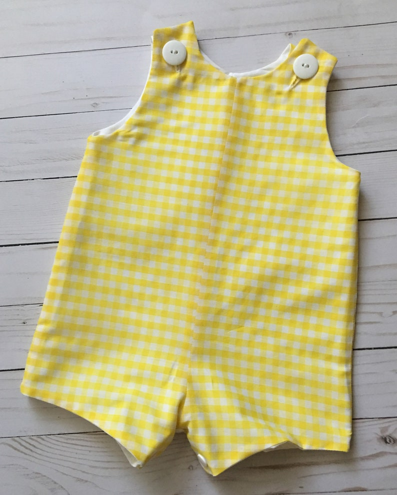 1f7e57de576c Boy's Baby Toddler Classic Jon Jon Shortall Romper | Etsy