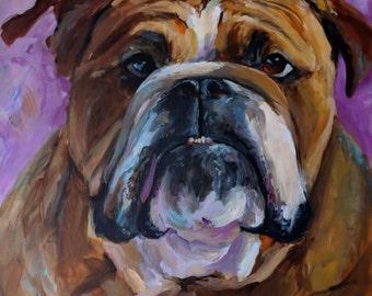 Canvas Print - Bulldog 2018 - 8x8 wrapped CANVAS print by Cari Humphry