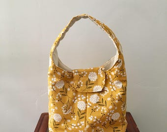 Lunch Bag Insulated - Mustard Floral