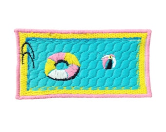 Swimming Pool Iron On Patch By Jess Warby