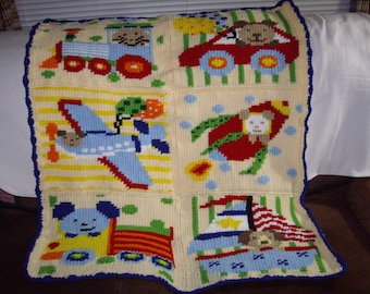 pattern--My version of a Baby Transport Afghan