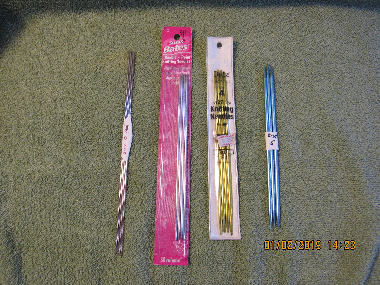 Set of 4 Choose Your Size Susan Bates Quicksilver Double Point Needles