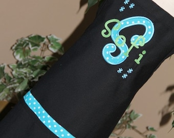 Personalized Embroidered Adult Junior teen Applique Apron Flowers Mommy Teacher GIFT