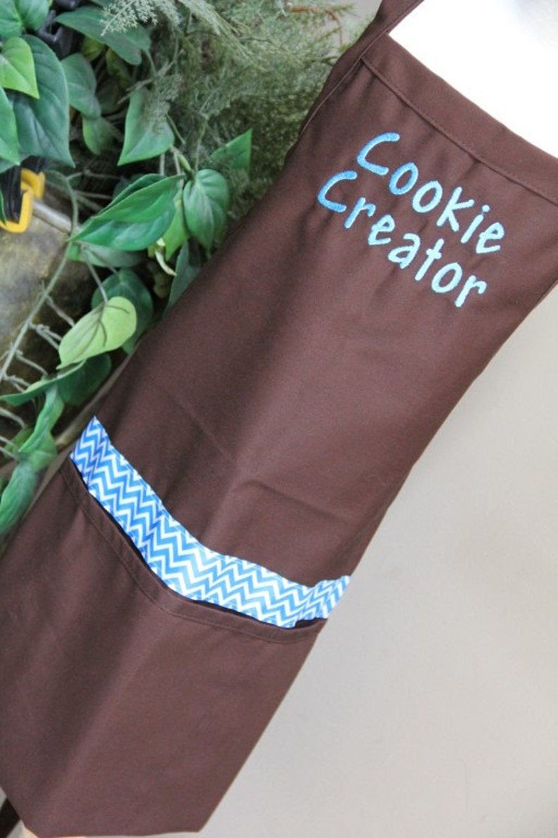 Personalized Embroidered Adult Apron CUSTOM wording or BUSINESS name