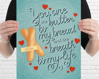 Butter to my Bread - Julia Child | Giclee