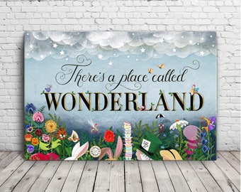 """There's a Place Called Wonderland 24"""" x 36"""" Canvas"""