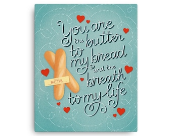 Butter to my Bread Canvas | Julia Child