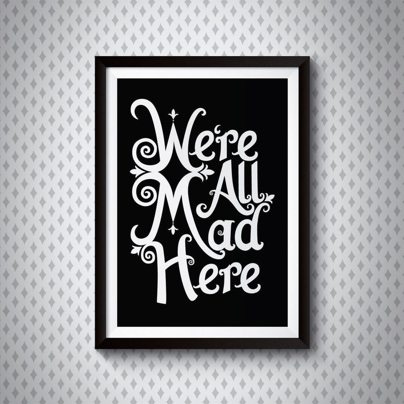 We're All Mad Here  Alice in Wonderland Giclee image 0