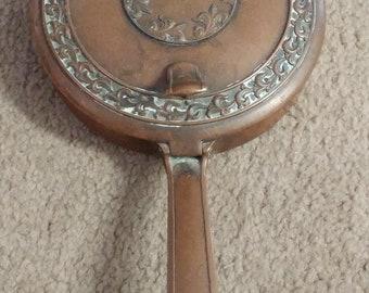 L. E. Mason Ornate Heavy Copper Silent Butler Crumb Catcher