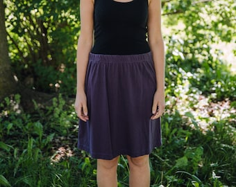 Womens Cotton Jersey Knit Skirt  Made in the USA -  Made to Order - All Seasons
