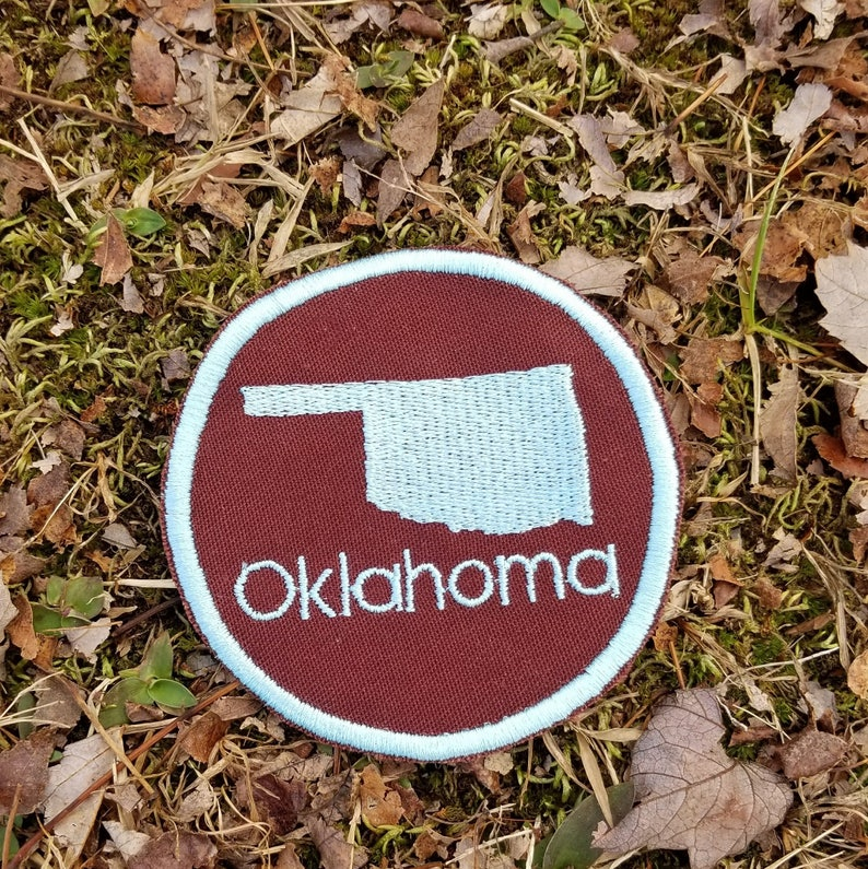 or Magnet Handmade in the USA Pick your colors Any state! Ornament Custom State Embroidered Patch