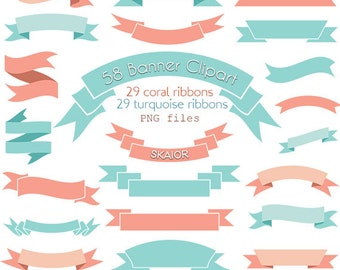 Banners Clipart Digital Clip Art Vector Ribbons Labels Scrolls Rustic Wedding Logo Scrapbooking Cards
