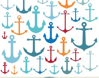anchor clipart vector anchor clip art nautical clipart etsy