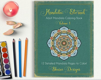 Mandala Coloring Book Adult Printable Relaxation Detailed Henna Pages Yoga Meditation Art Therapy