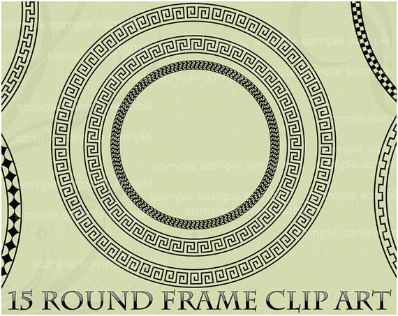 Sun Clipart Clipart Greek - Greek Key Circle Border - Free Transparent PNG  Clipart Images Download