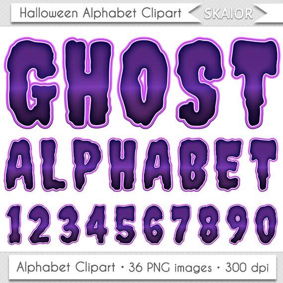 Halloween Alphabet Clipart Purple Letters Clipart ...