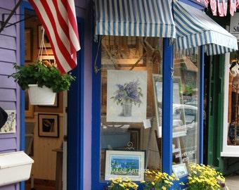 Purple Shop, Street Photography, Colorful Photography, Home Decor, Digital Download, Printable Art, Bar Harbor, Maine, Travel Photo